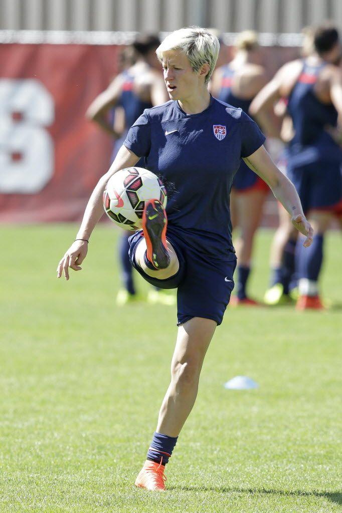 Megan Rapinoe, training, Salt Lake City, Sept. 10, 2014. (Rick Bowmer/AP)
