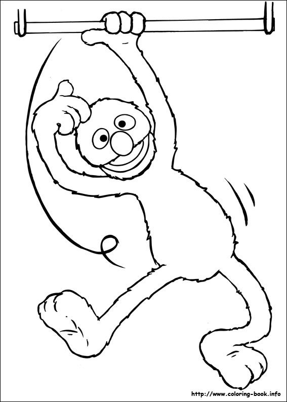 66 best c is for colouring images on pinterest coloring for Grover sesame street coloring pages