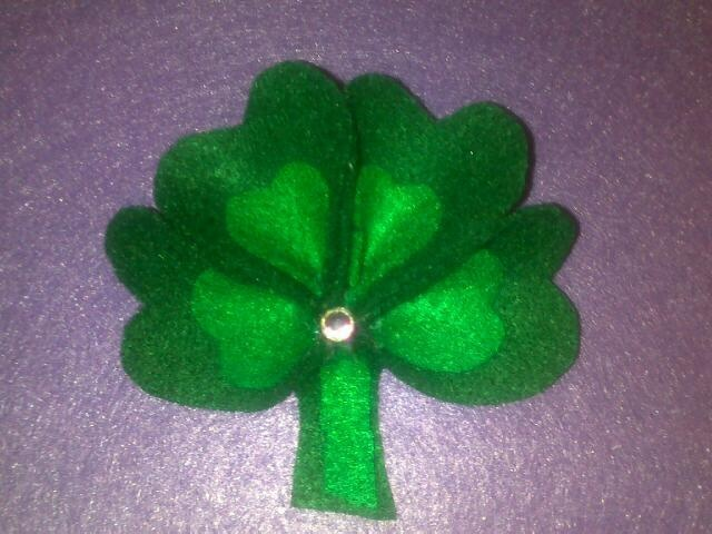 another 4 leaf clover i made from felt