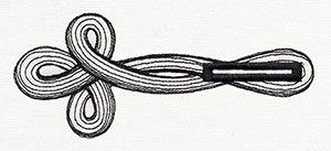 Military Buttonhole design (UT9092) from UrbanThreads.com