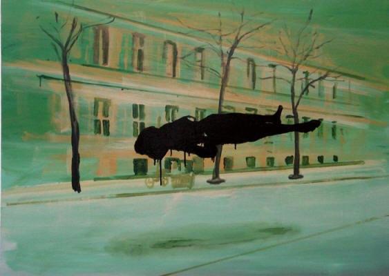 Ronald Versloot, Roaming, 2012, acrylic, enamel on linnen, 100 x 160 cm