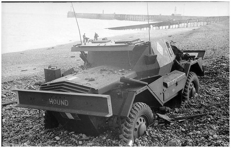 British vehicle abandoned during the failed raid on Dieppe. 1943
