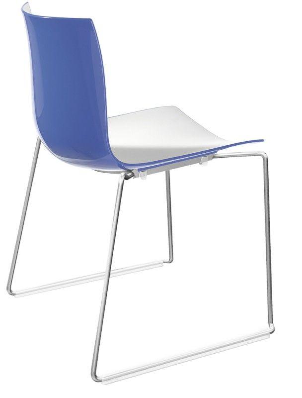 Arper : Catifa 46 Kufen Kunststoff - catifa 46 kufen detail blau weiß