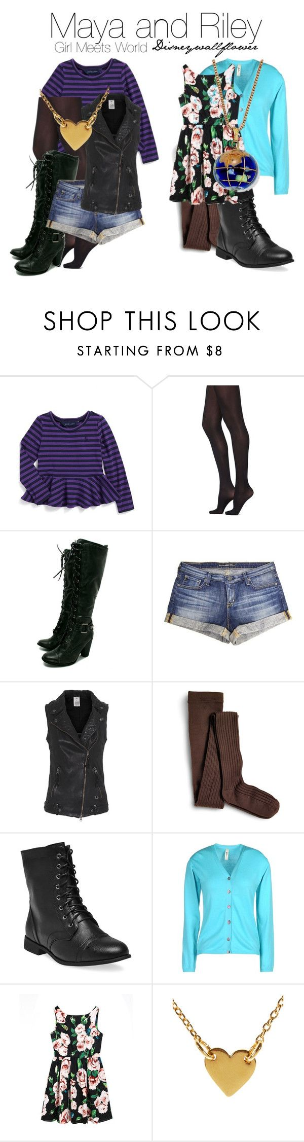 """""""Maya and Riley- Girl Meets World"""" by disneywallflower ❤ liked on Polyvore featuring Ralph Lauren, With Love From CA, Big Star, True Religion, Sperry Top-Sider, Wet Seal, Jolie By Edward Spiers, Chicnova Fashion, Accessorize and Palm Beach Jewelry"""
