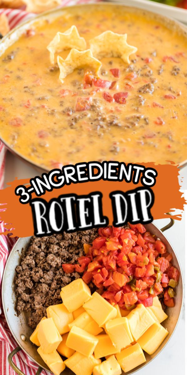 The Best Rotel Dip Recipe 3 Ingredients Ready In Under 20 Minutes In 2020 Easy Appetizer Recipes Rotel Dip Super Easy Appetizers