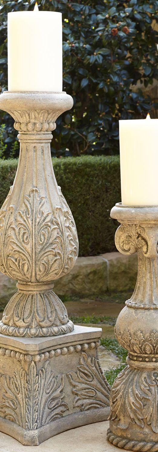 Cast Stone Candlesticks