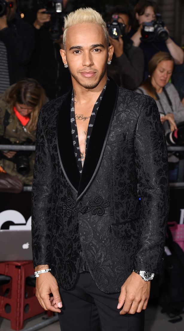 Lewis Hamilton at the GQ Men of the Year Awards