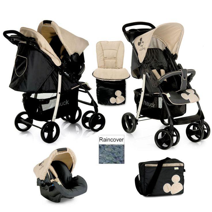 Hauck Disney Mickey Charcoal Shopper SLX Pushchair Travel System shop n drive+AC  | eBay