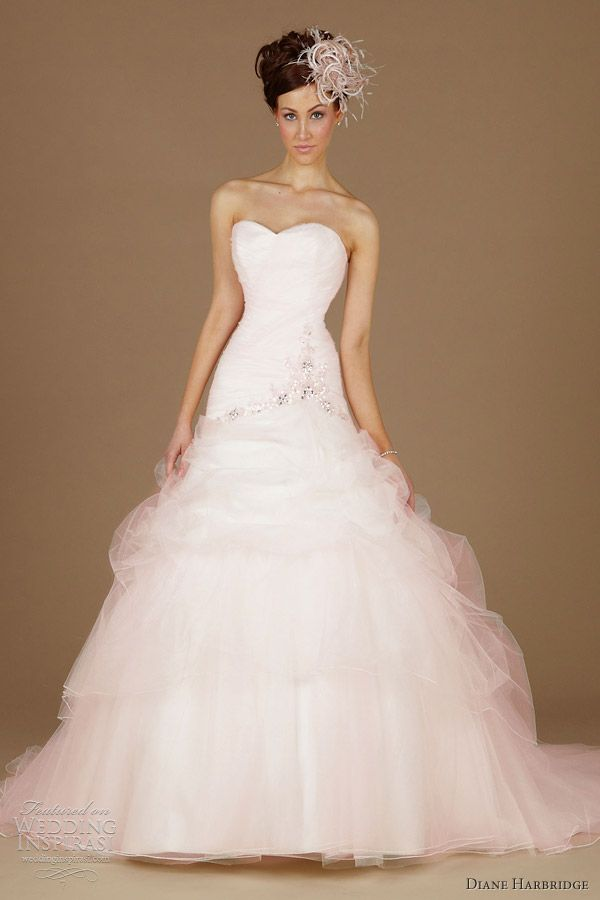91 best images about pink wedding dresses on Pinterest | Marriage ...