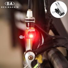 BEGINAGAIN Nano Trasera LED Lámpara de Luz de Freno de la Bicicleta MTB de la Bici de Advertencia de Seguridad Luces Traseras Ciclismo Accesorios A Prueba de Agua Super Brillante(China (Mainland))