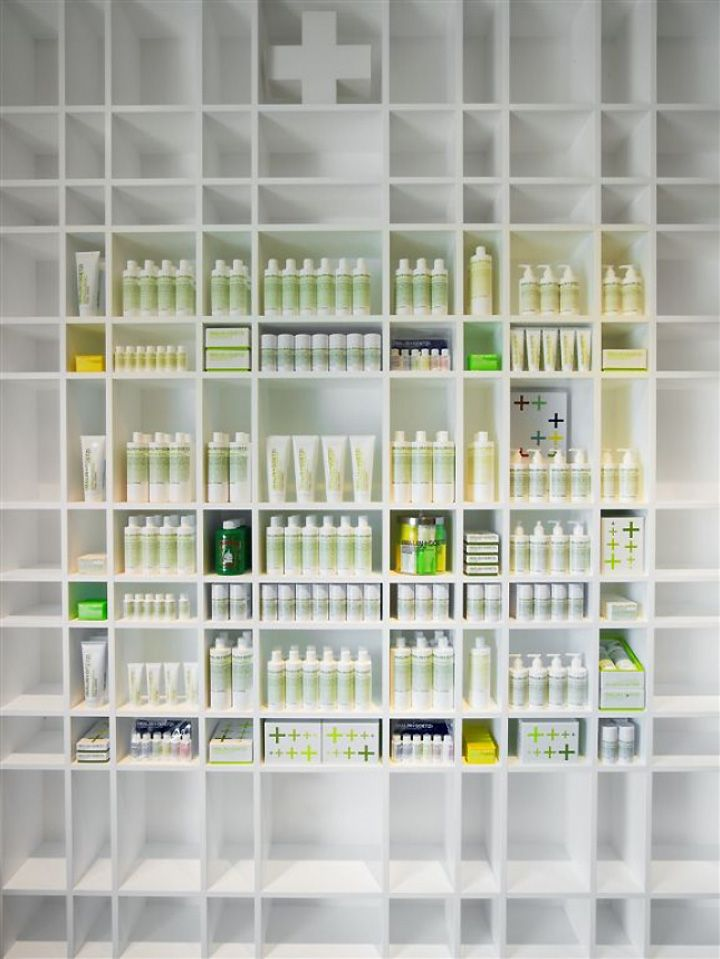 Shelving. (Malin+Goetz) apothecary by Bernheimer Architecture, Los Angeles store design