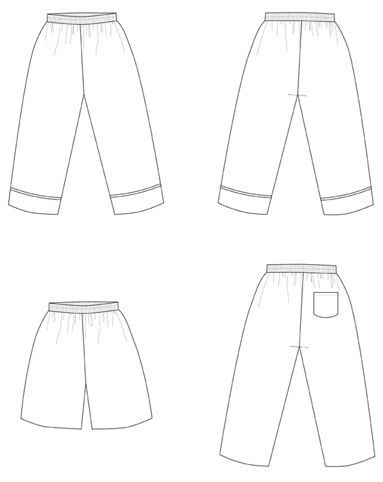 Patrón costura pantalón de pijama infantil Daisy