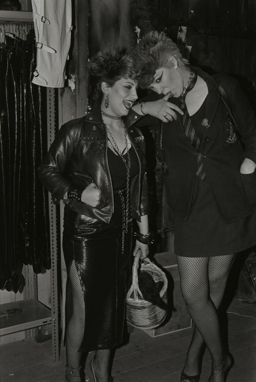 Ladies shopping in the London punk shop, BOY