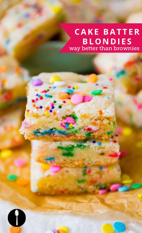 How to make cake batter blondies -- a good alternative to brownies and for anyone who hates chocolate.