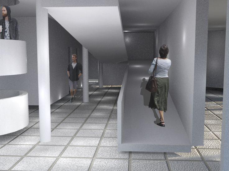 villa savoye / 3D max / interior view