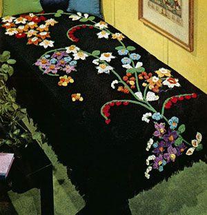Flower Fountain Afghan Pattern
