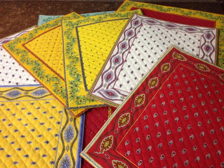 French Quilted Table Mats.