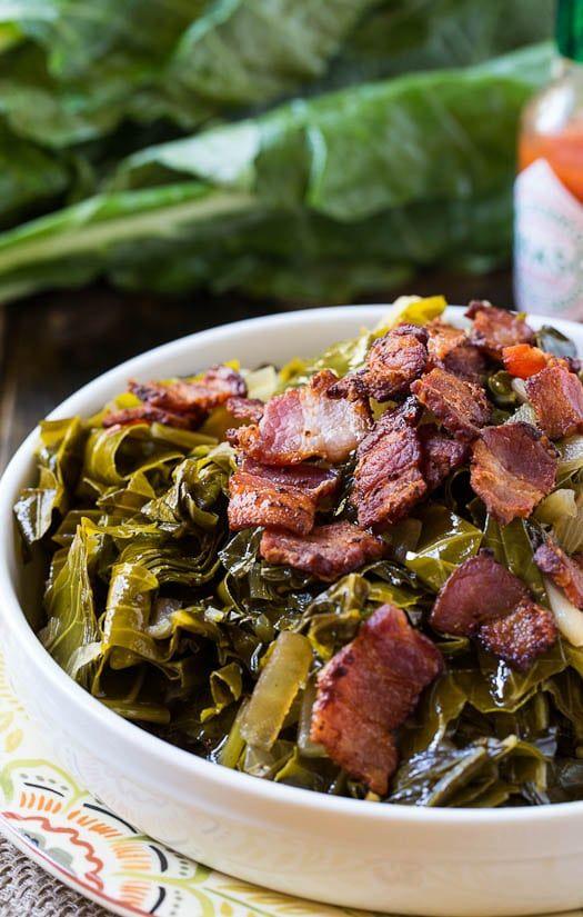 Spicy Collard Greens / Recipe