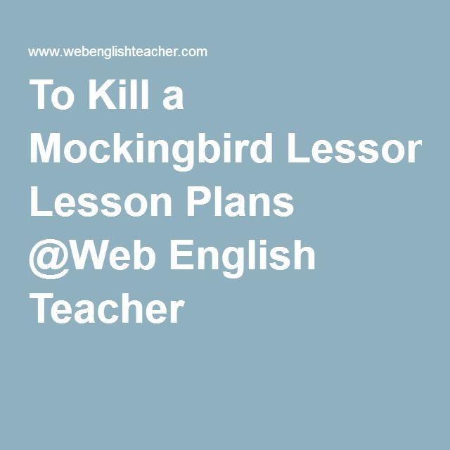 To kill a mockingbird movie lesson