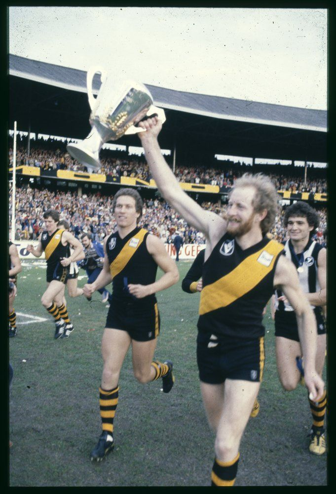 Jess with the '80 premiership cup