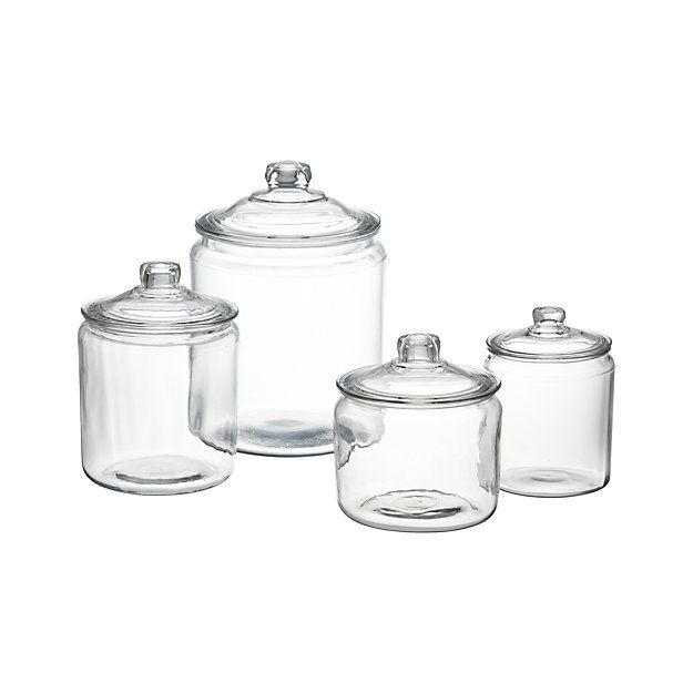 Heritage Hill Glass Jars with Lids I would really like this set for the pantry