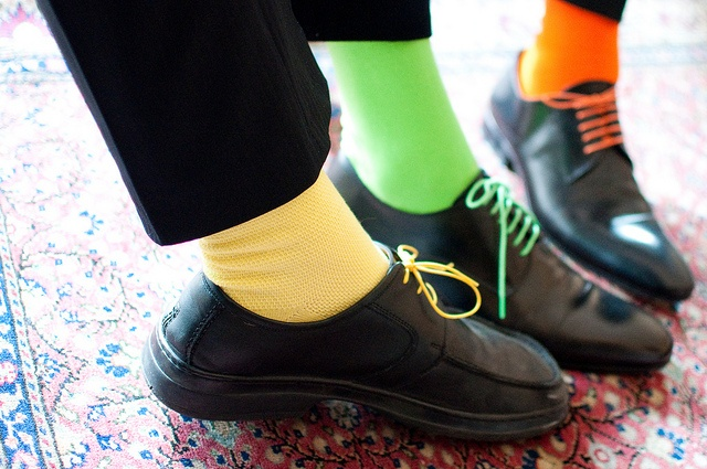 chaussette et lacets assortis : j'adore !