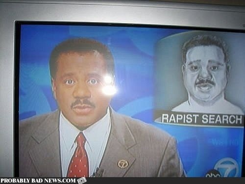 Rapist Search: This Man, Anchors, Awkward Moments, Laugh, Funny Pics, News, Funny Pictures, So Funny, Funny Fail