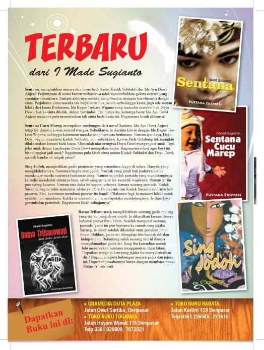 Balinese novel with Made Sugianto at https://www.facebook.com/made.sugianto.5