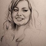 Beatrice - graphite pencil study by Michelle Myers Art