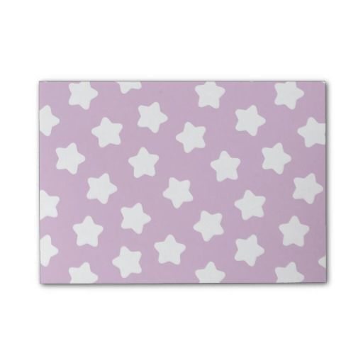 Cute Light Purple Star Pastel -Colored Post-It® Notes