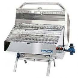 Magma Monterey Gourmet Series Gas Grill A101225L at appliancesconnection.com. Large enough to provide a banquet for even the hungriest crew, the Monterey offers features usually only found in the largest back yard grills, yet is designed specifically for use on your boat. #grills #grillmasters #montereygourmet #heavyduty