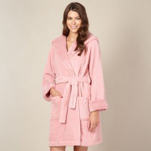 RJR.John Rocha Designer pink hooded waffle fleece robe- at Debenhams Mobile