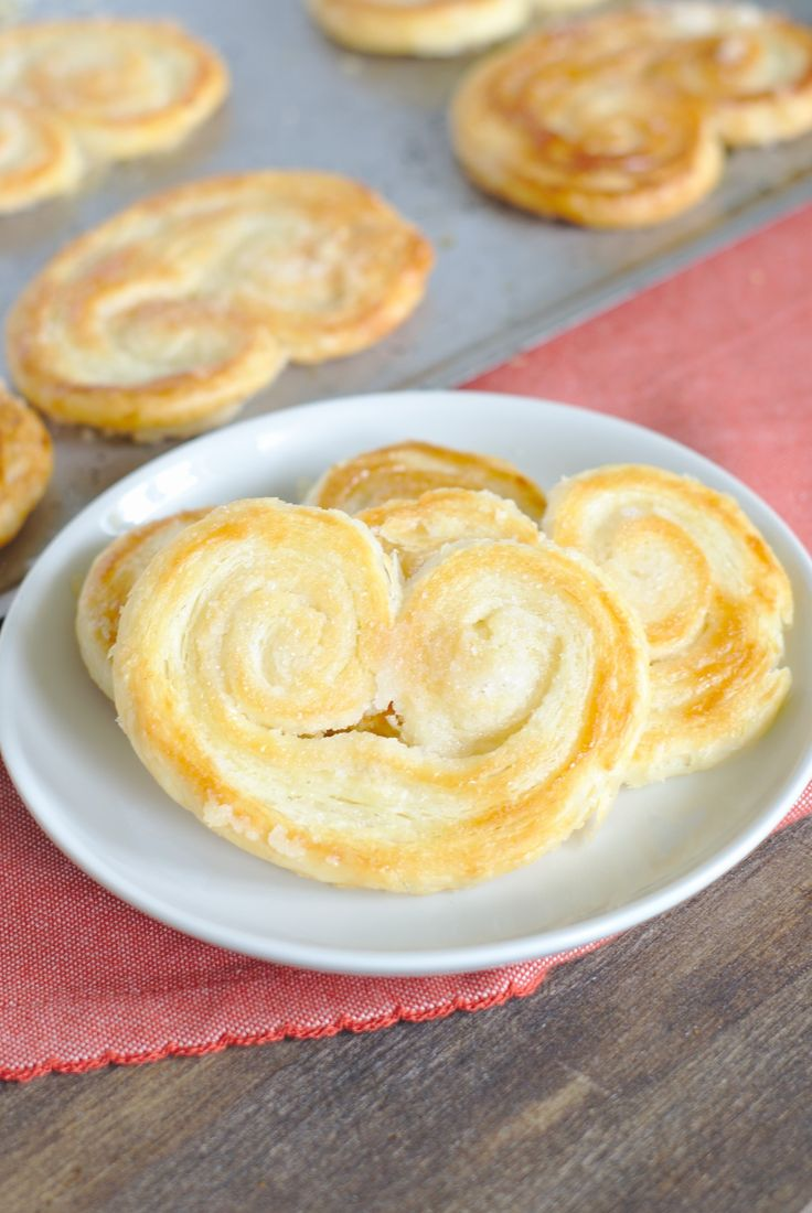 Classic French Palmier Cookies - A delicate French dessert made from just 3 ingredients! These puff pastry cookies are elegant and so easy to make!