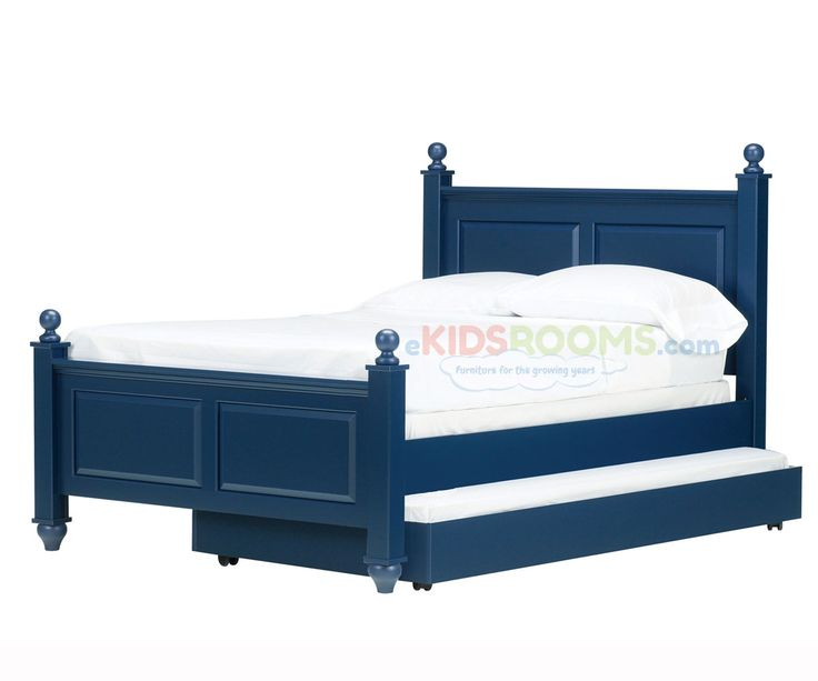 madison full size trundle bed indigo blue