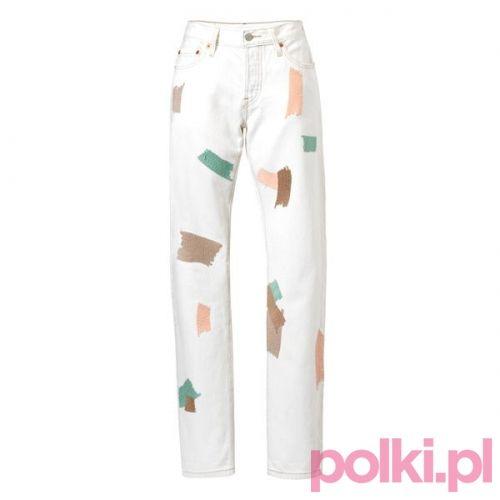 Białe dżinsy Levi's #fashion #polkipl #bebeauty #moda #style #trendy #jeans
