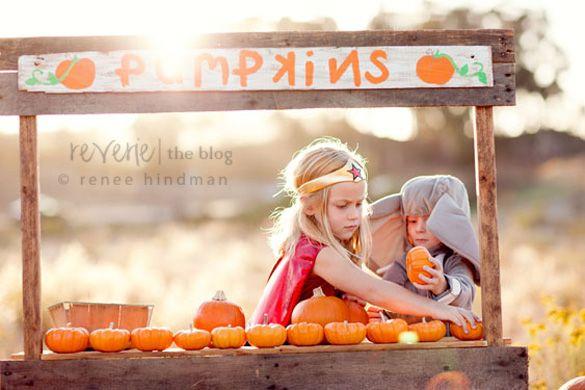 Kids pumpkin stand! Fall Fun..