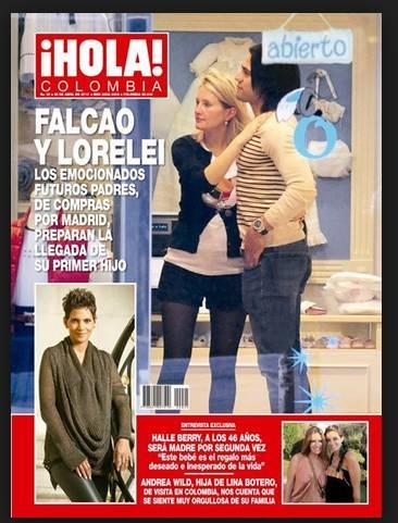 Salimos en portada de la Revista ¡Hola! Colombia con Falcao y Lorelei ! Gracias por confiar en nosotros !!