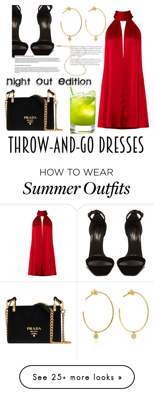 """""""throw n go:night out edition"""" by agsabins on Polyvore featuring Galvan, Prada, Yves Saint Laurent, Yvonne Léon and Missoma"""