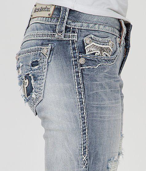 Buckle ROCK REVIVAL Low Rise Jacklyn Cuffed Straight Stretch Jean 29/30 x 33 #RockRevival #StraightLeg
