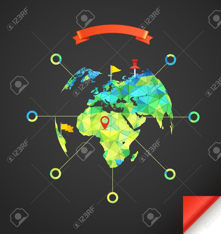 Illustration of World map infographic template Design