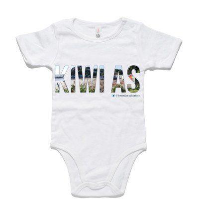 Kiwi As Baby Clothing - White One Piece