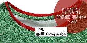 Cherry Designs | Tutorial boordstof | afwerking nek