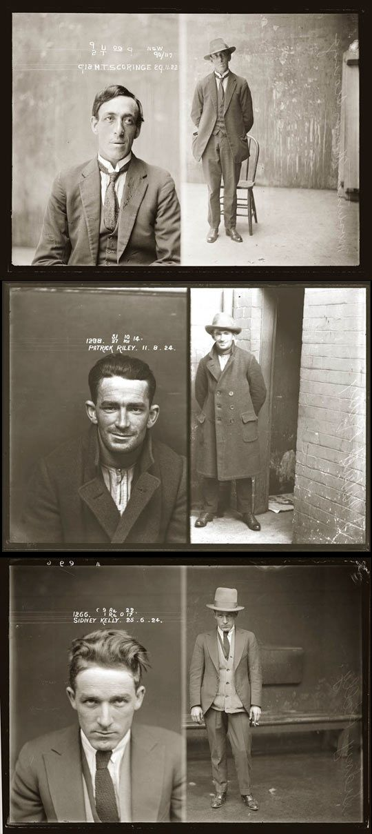 Look at these mugshots from the 20's... Had you been born just slightly earlier, you might have defended them in court...