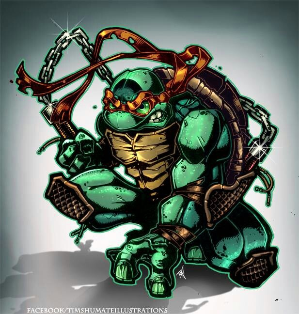 TMNT Michelangelo Tattoo - Tim Shumate Illustration ...