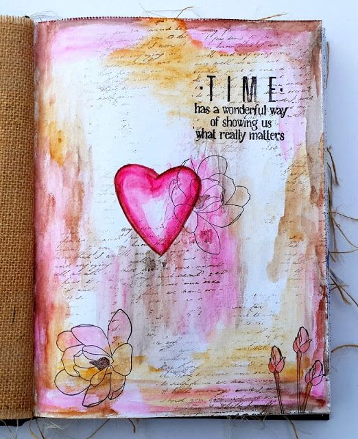 Neon Diary: Time- Art Journal Page