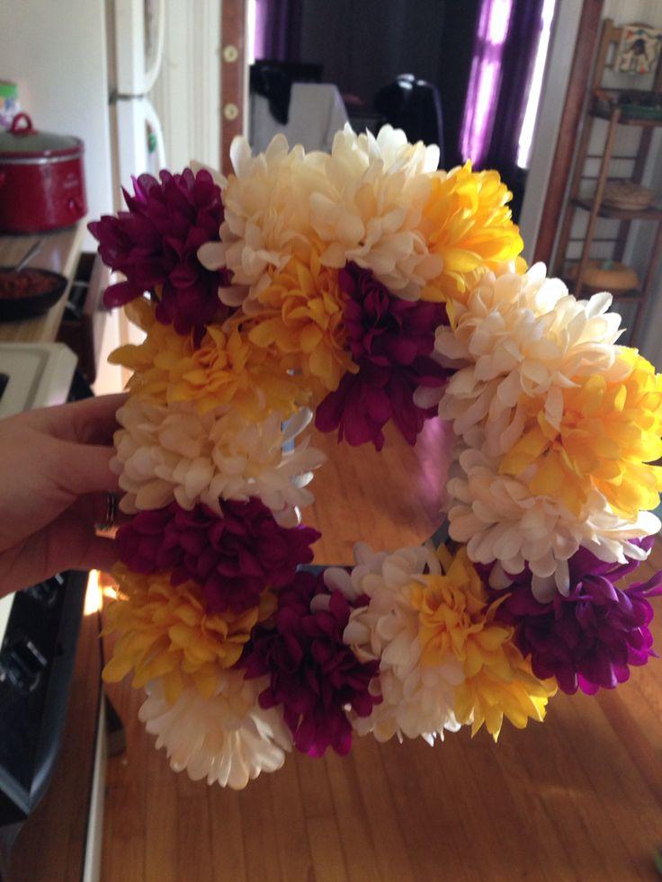 Monogram flower wreath