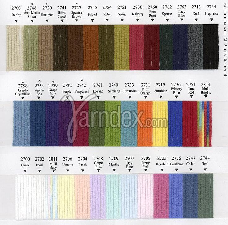 Red Heart Yarn Color Chart Google Search Colors