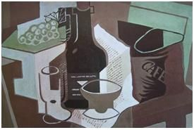 juan gris der kaffeesack 1920 kunstwerke kubismus pinterest kubismus. Black Bedroom Furniture Sets. Home Design Ideas