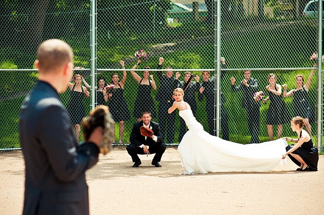Yessss, this is perfect with all the baseball and softball players in our wedding!: Photo Ideas, Wedding Ideas, Wedding Photos, Dream Wedding, Baseball Wedding, Wedding Pictures, Weddingideas, Future Wedding, Picture Ideas