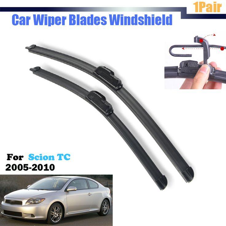For 2005-2010 Scion TC Car Bracketless Soft Rubber Wiper Blades Window Windshield  2Pcs #Affiliate